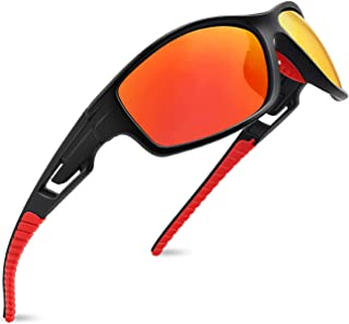Polarized Sports Sunglasses for Men Women Running Fishing Baseball Driving MJ8013