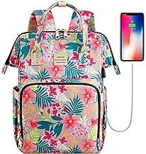 College School Backapck, Stylish Laptop Backapck Computer Bag for Women Girls, Water Repellent Doctor Teacher Laptop Bag Casual Daypack Fit 15.6 inch Laptop Notebook(Flower5)