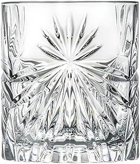 6 Verres à Whisky/Apéritif en Cristal - Service Rayon de Soleil (32 cl) - Maison Klein - Artisan du Cristal - Coffret Cade...