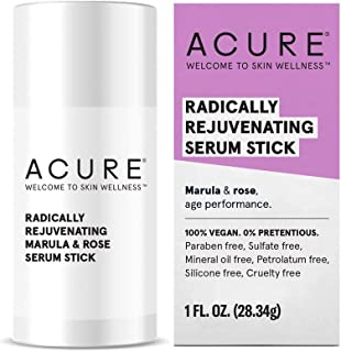 ACURE Radically Rejuvenating Serum Stick | 100% Vegan | Provides Anti-Aging Support | Marula, Rose Oil & Avocado Oil - Hydrates & Rejuvenates | 1 Oz