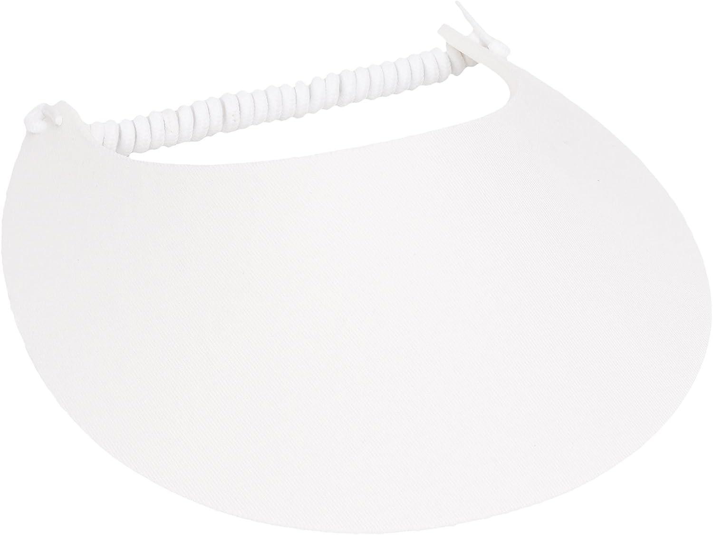 MG Women's Cotton Solid String Sun Visor Hat