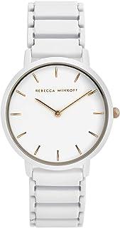 Rebecca Minkoff Women's Major Quartz Watch with Stainless Steel Strap, White, 16 (Model: 2200395)