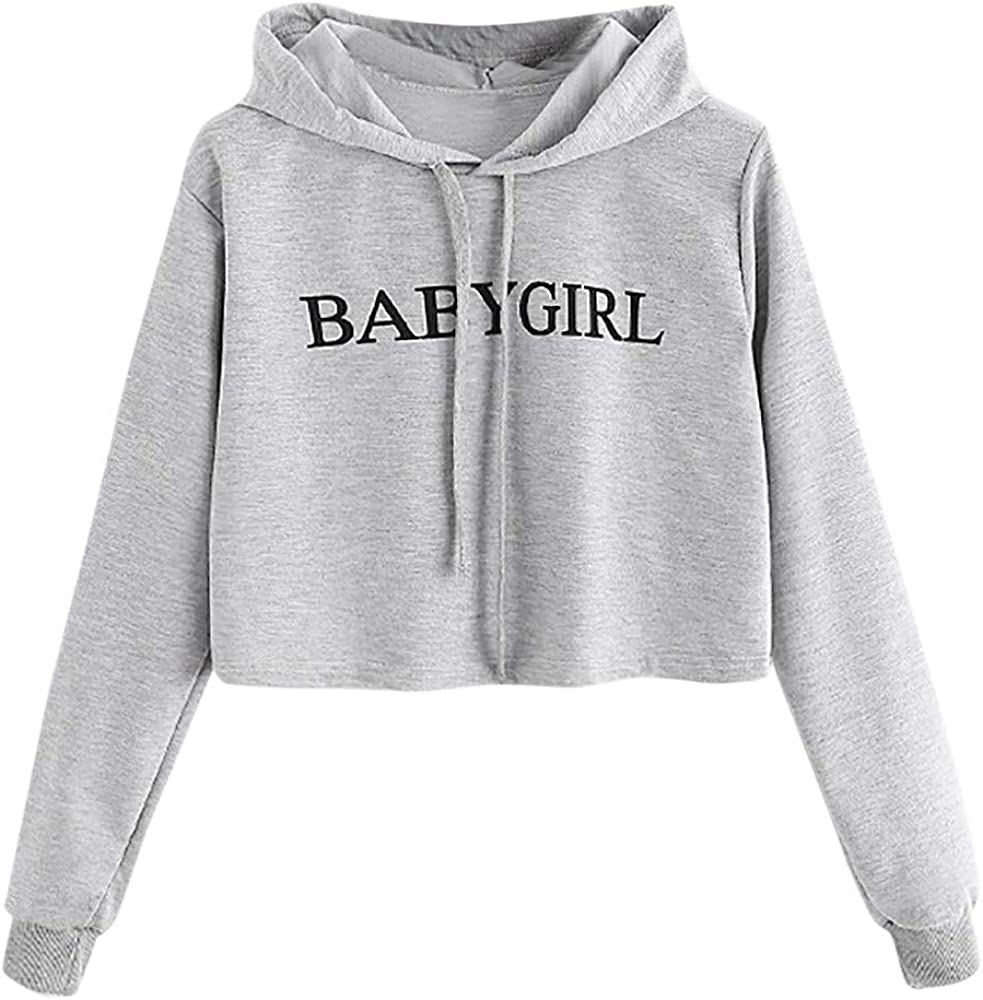 UOCUFY Sweatshirts for Women, Womens Casual Long Sleeve Graphic Printed Drawstring Pullover Hoodies Loose Tie Dye Tops