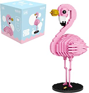 LOZ Building Block Flamingo Toys DIY Miniature Birthday Children's Day Valentine's Day Adults Kids Gifts, Office Building kit