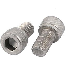 acero inoxidable A2 V2A rosca completa ISO 7380-2 tornillo de lenteja plana tornillo de brida 10 Tornillos de cabeza plana con brida TX M6x50
