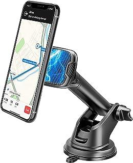 Baker Telefoonhouder voor de auto, magneet, 360 graden draaibaar, autosmartphonehouder met zuignap en kleefpad, dashboard ...