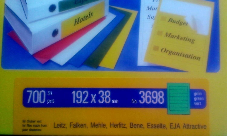 PP Premium Printware Bundle  Zweckform Ordnerr&uu ;cken-Etiketten 3698, gr&uu ;n, 100 Blatt,192 x 38mm B00UHJQ2KQ  | Überlegen