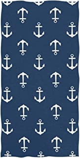 Nautical Themed Hand Towels Towel Ultra Soft Highly Absorbent Multipurpose Bathroom Bath Kitchen Fingertip Towel for Hand,Face,Gym,Spa and Home Decor, 30 X 16 Inch