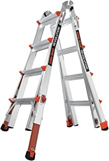 Little Giant Ladders, Revolution with Ratchet Levelers, M17, 5-15 foot, Multi-Position..