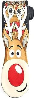 Noel Mens Holiday Party Designer Necktie Rudolph Red Nose Reindeer