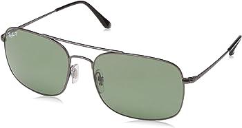 Ray-Ban Polarized Green Classic G-15 Square Unisex Sunglasses