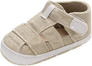 Infant Newborn Sandals, MS-SM Baby Girls Boys Pure Color Canvas Soft Single Shoes for 0-1.5 Years Old