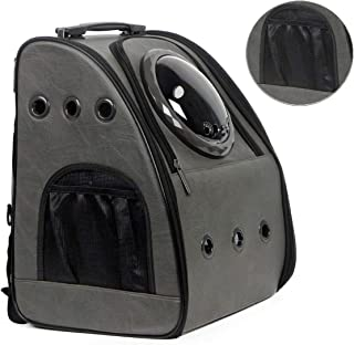 halinfer Cat Backpack Carrier Large, Pet Carrier Backpack for Cat up to 20lbs, Fat Kitten and Small-Medium Dog, Space Capsule Bubble Travel Backpack for Hiking