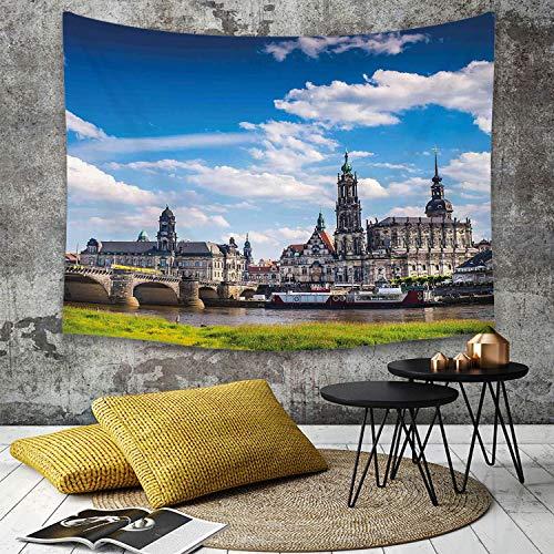 Tapestry, Wall Hanging, Stadtansicht, Altstadt Dresden Altdeutsche Architektur Historisches...