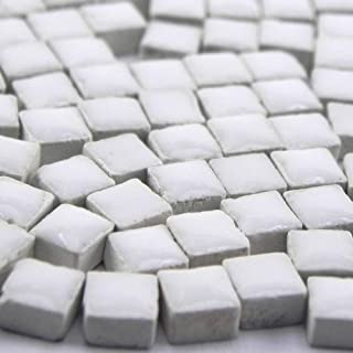 Mini Mosaïque (5x5x3mm), 1000 tesselles, Blanc perlé, WW02