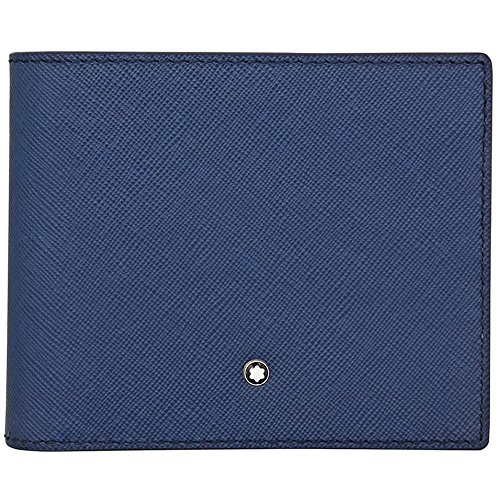 Montblanc Montblanc Sartorial Tarjetero, 11 cm, Azul (Indigo)