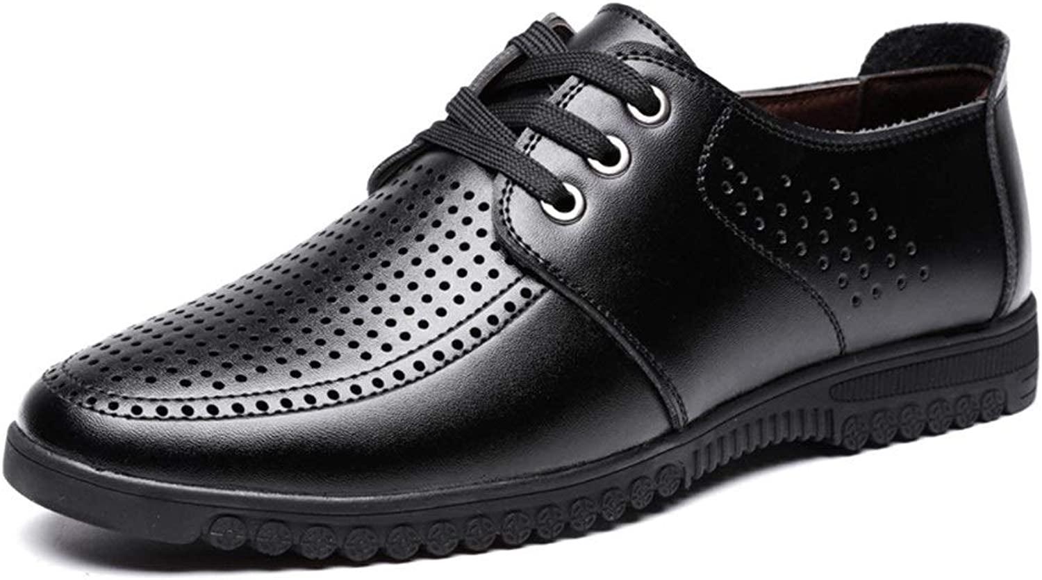 Ino Oxford shoes for Men Formal shoes Lace Up Style Microfiber Leather Summer Vacuous Pure Colours Low Top