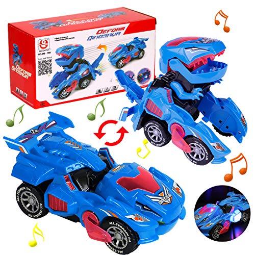Transformación Dinosaurio Coche, Vehículos de Dinosaurios, Coche Transformer Dinosaurio, Robot de Coche Transformador de Dinosaurio Juguetes Regalos de Cumpleaños Niños Juguetes, Dinosaurios Juguetes