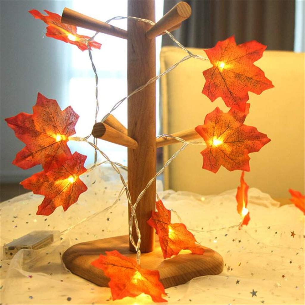 LED Light String Maple Leaf Day Pa Sales NEW before selling for sale Christmas Shape Decoration