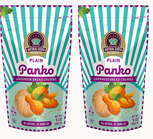 Panko Japanese Bread Crumbs Plain - Breadcrumbs for Cooking - Bread Crumbs Plain - Kosher Certified - 9 oz (2-Pack)