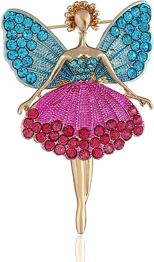 SoulBreeze Winter Jewelry Ornaments Same day shipping Houston Mall Pin Brooch Angel Wings