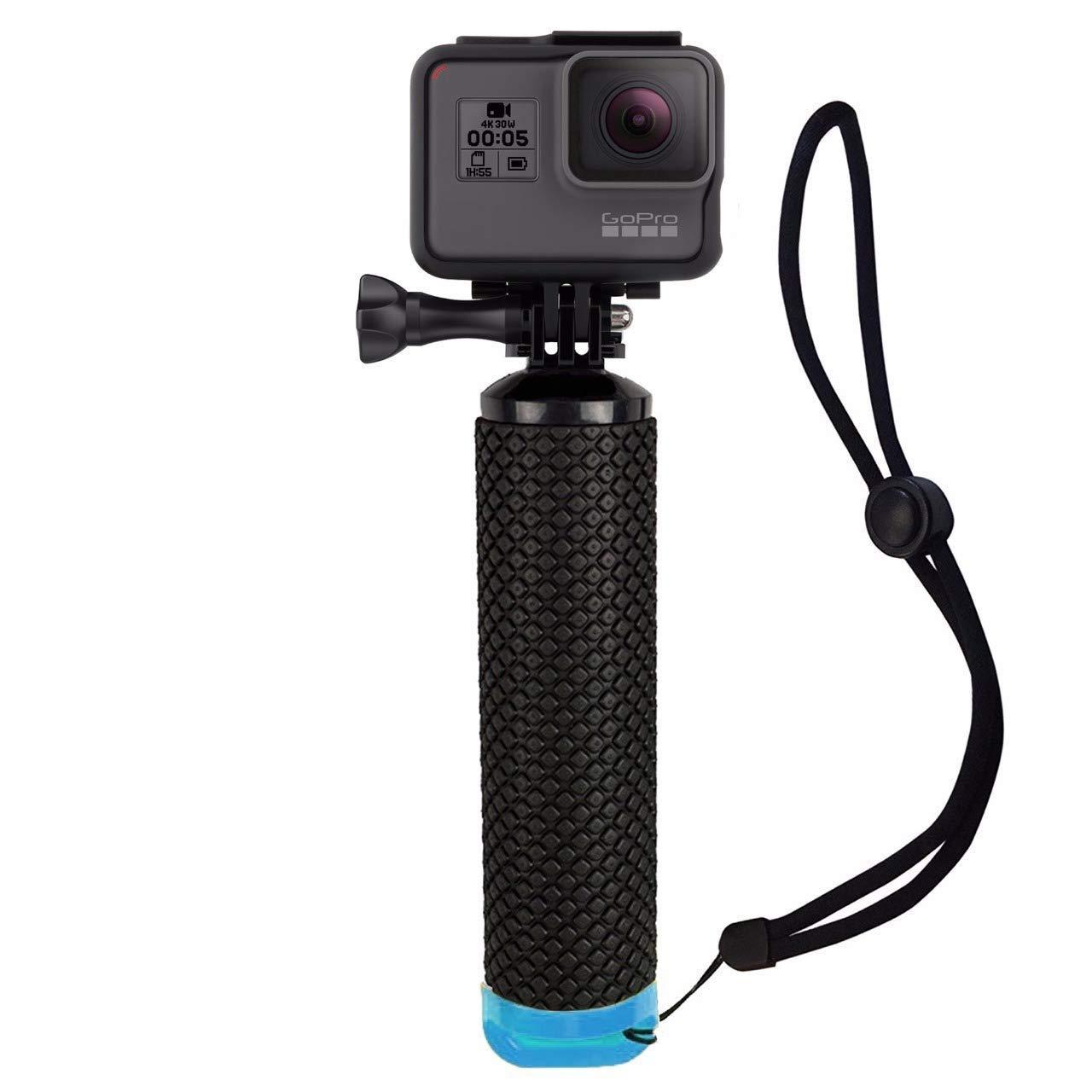 Houdian Empuñadura Flotante Boya Dispositivo Flotante para Todas Las cámaras GoPro Hero y cámaras de acción Accesorios para Deportes acuáticos - Azul: Amazon.es: Deportes y aire libre
