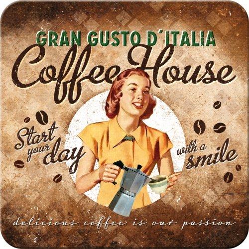 Nostalgic-Art 46118 Coffee und Chocolate House Lady, Untersetzer