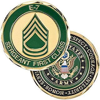 Medals of America Army Sergeant First Class Challenge Coin Gold