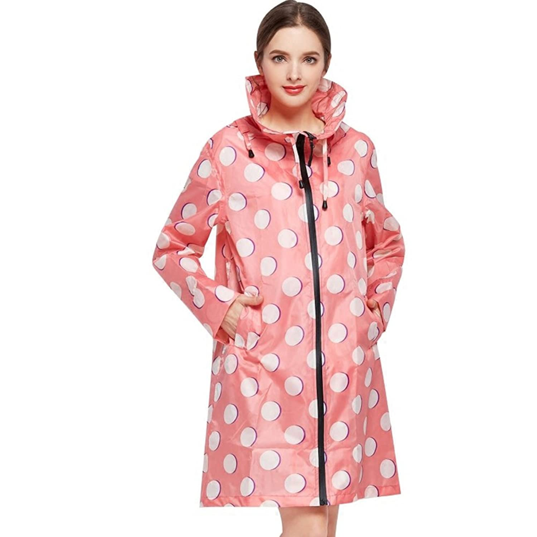 通気性のある 女性 ピンク レインコート ロングセクション レインコート ウインドブレーカー シェイクドライ 薄くて軽い ポータブル ハイキング 旅行 レインコート