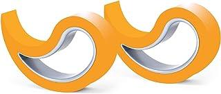 Stoppy Tope de Puerta/Ventana Juego de 2 Asequible en 14 Colores (Naranja)