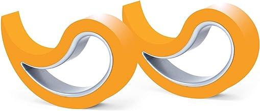 Stoppy, Stopi, raamstopper, deurstopper, deurpaneel, deurhaak, raamklem, set van 2 (verkrijgbaar in 14 kleuren) (oranje)