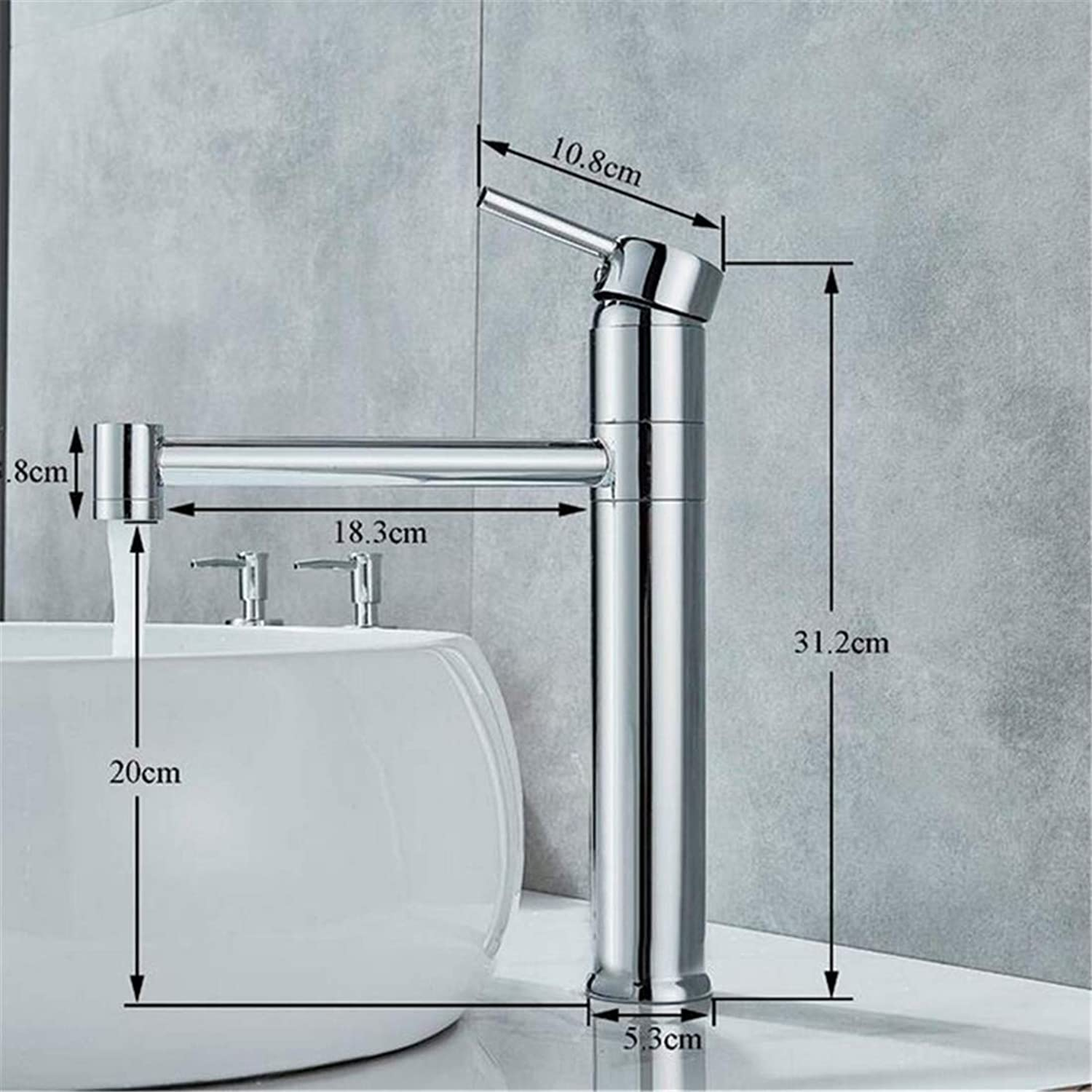 Retro Faucetwashbasin Mixer Chrome Polished Solid Brass Bathroom Single Handle Sink Faucet