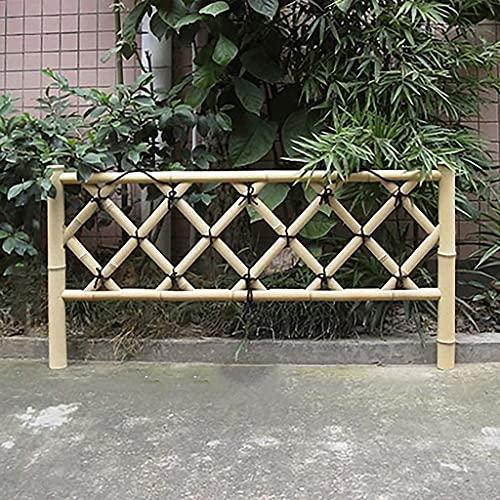 WXking Zäune Freistehende Zaun Bambus Zaun Gartenzaun Schutzwächter Indoor Outdoor Universal L100cm * H60 cm Erweiterung Zaun