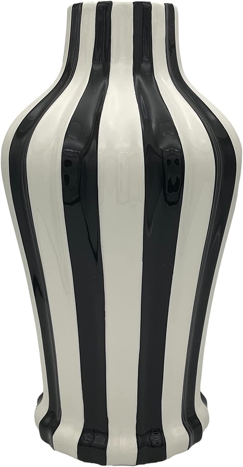 Tuscan Collection Classic Striped Ceramic VASE Your Free shipping / New Choice C depot of