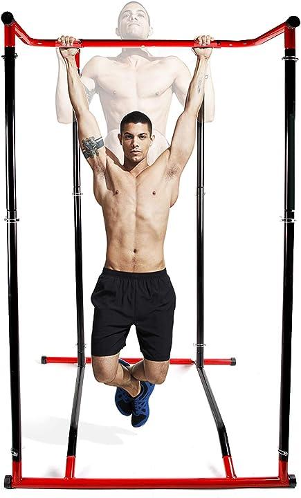 Sbarra per trazioni & pull up rack fitness allenamento a casa,portata massima di 110 kg  cclife nuovo DPSTN002V