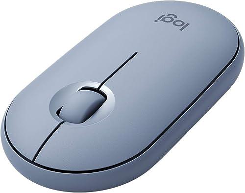 Mouse sem fio Logitech Pebble M350 com Conexão USB ou Bluetooth, Clique Silencioso, Design Slim Ambidestro e Pilha In...