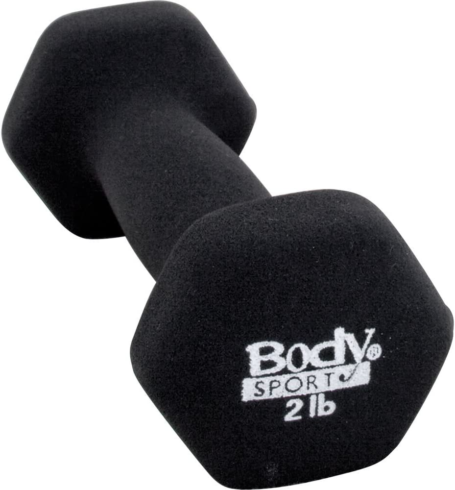 Body Sport Product Neoprene Charcoal Color Dumbbell Sale item