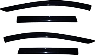 Auto Ventshade 94383 Original Ventvisor Side Window Deflector Dark Smoke, 4-Piece Set for 2013-2018 Ford Escape