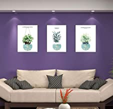 YWH-WH Wall Decor Nordic minimalist modern tropical plants small fresh bedroom wall hotel hotel decorative core happy life...