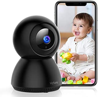 Victure 1080P FHD WiFi IP Camera Wireless 2.4 G WiFi Security Panoramic Viewing Camera with Motion Detection, 2-Way Audio,...