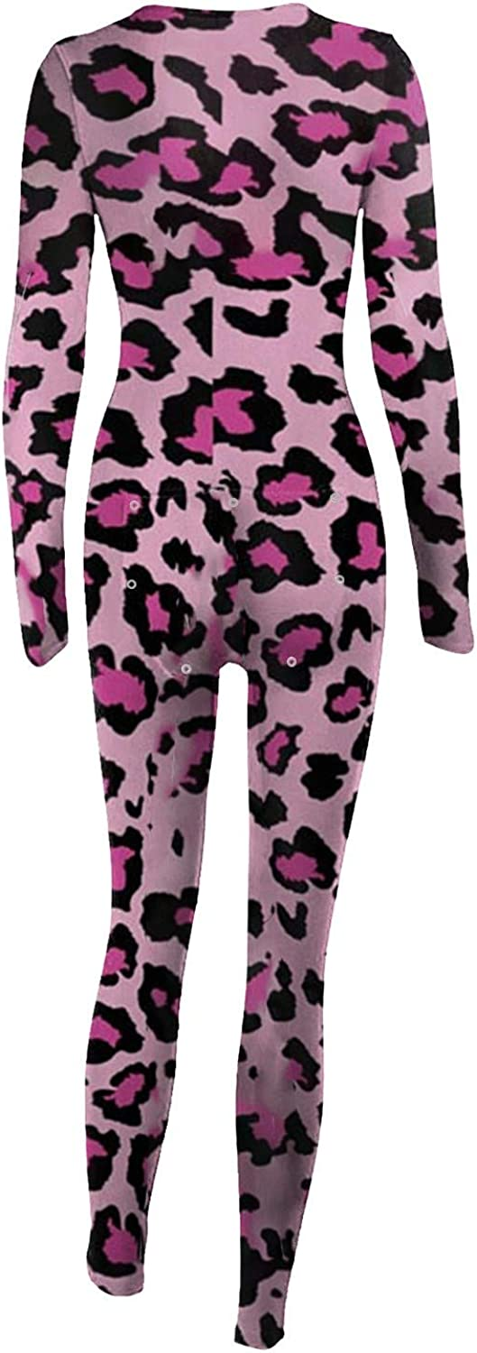 Valentine's day Pajama Jumpsuits One Piece Sleepwear Bodysuit Set Long Sleeve Suit with Back Functional Button-down Flap