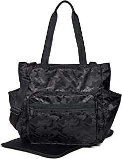 LeSportsac Women's Janis Diaper Bag Tote, Black Camo, One Size