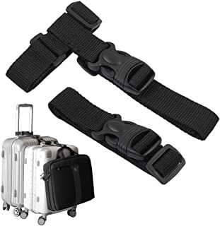 Luggage Straps,Two Add a Bag Suitcase Strap Belt,Adjustable Travel Attachment Accessories for Connect Your Three Luggage T...