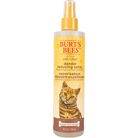 Burt's Bees for Cats Natural Dander Reducing Spray with Colloidal Oat Flour & Aloe Vera | Cat Dander Spray, Cruelty Free, Sulfate & Paraben Free, pH Balanced for Cats - Made in USA, 10 oz