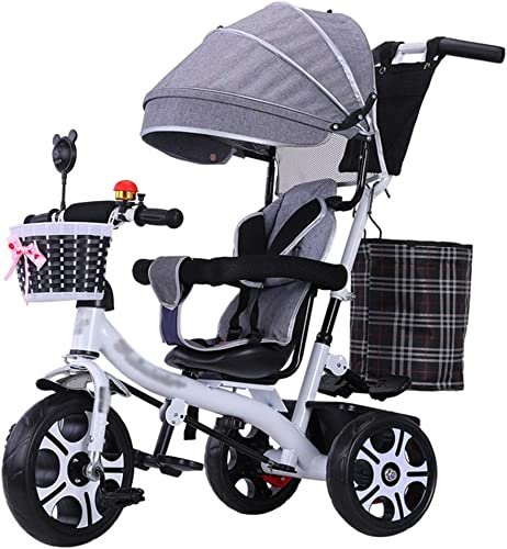 el precio más bajo Carrito de Bicicleta Triciclo para Cochecito de bebé 4 4 4 en 1 con asa Ajustable y arnés de Seguridad para Niños de 6 Meses a 5 años (Rueda de plástico sólido Goma)  venta de ofertas