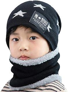 Heekpek - Conjunto de bufanda de sombrero para niños y niñas