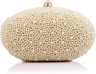 Fine Bag/Women Clutches Beading Evening Bag Clutch Purse Bags Special Occasion Evening Handbags Banquet Bag (Color : Apricot, Size : One Size)