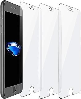 شاشة حماية اتش دي سهلة التركيب مصنوعة من الزجاج المقوى لموبايل ايفون 8 4.7 بوصة، عبوة مكونة من 3 قطع