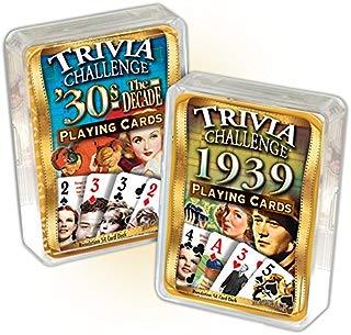 Flickback Media, Inc. 1939 Trivia Playing Cards & 1930's Decade Trivia Combo: 80th Birthday or Anniversary