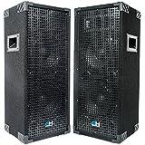Grindhouse Speakers - GH28L-Pair - Pair of Passive Dual 8 Inch 2-Way PA/DJ Loudspeaker Cabinets -...